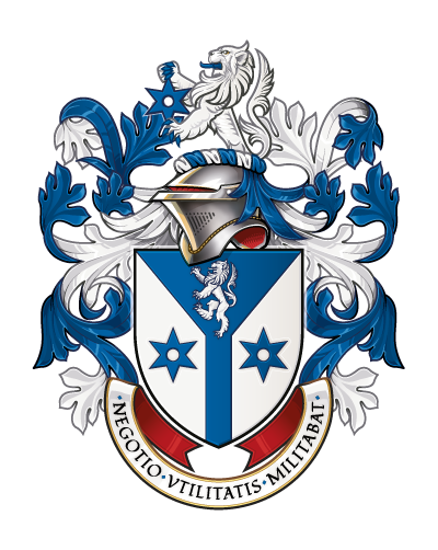 Vector artwork of the Assumed Arms of Eric Motley - illustrated by Quentin Peacock